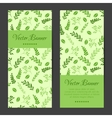 vertical banners cards brochures set vector image