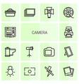 14 camera icons vector image vector image