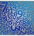 Abstract blue gradient extruded random numbers on vector image vector image
