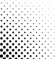 Abstract monochrome dot pattern background vector image vector image