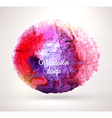 Abstract Watercolor Design vector image vector image