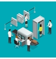 Airport Security Check Isometric Composition vector image vector image