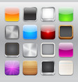 app icons templates set vector image vector image
