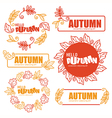 autumn doodle vector image vector image