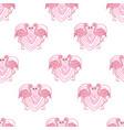 background seamless flamingo flamingo sketch vector image vector image