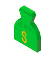 bag money 3d icon with dollar sign vector image