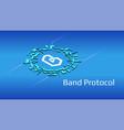 band protocol isometric token symbol defi vector image vector image