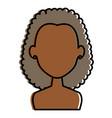 beautiful black woman shirtless avatar character vector image vector image