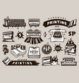 big collection of screen printing elements