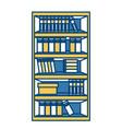 books on desk vector image