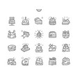 cakes well-crafted pixel perfect thin line vector image