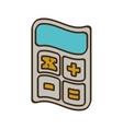 cartoon calculator finance objetc office vector image