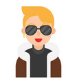 celebrity icon profession and job vector image vector image