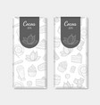 chocolate bar packaging set cocoa product with vector image vector image