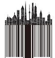 city bar code vector image vector image
