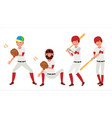 classic baseball player classic uniform vector image vector image