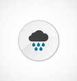 cloud rain icon 2 colored vector image
