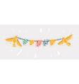 colorful bunting for decoration invitations vector image vector image