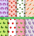 Colorful vegetable seamless pattern vector image vector image