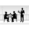 couple in restaurant vector image vector image
