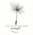 creative fashion conceptual print with dandelion vector image vector image