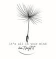 creative fashion conceptual print with dandelion vector image vector image