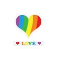 cute conceptual stripy pride rainbow flag heart vector image