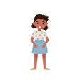 cute little african american girl standing vector image