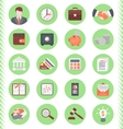 Financial and Business Icons Green Set vector image vector image