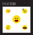 flat icon gesture set of descant winking wonder vector image vector image