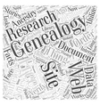 free genealogy web site Word Cloud Concept vector image vector image