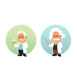 Funny of Chemist and Mathematician vector image