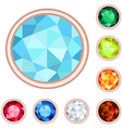gemstone set vector image