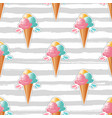 ice cream pattern trendy striped background 80s vector image