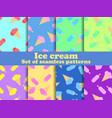 ice cream set seamless pattern multi-colored ice vector image vector image