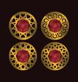 jewel ornament vector image