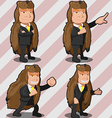 Mascot Bear Business Man Russia vector image vector image