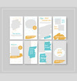 minimal social media banner template pack vector image vector image