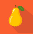 pear flat icon vector image vector image