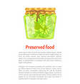 preserved food poster lime lemon home cooked jam vector image
