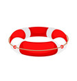 red white lifebuoy isolated on white background vector image vector image