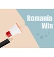 Romania win Flat design business vector image vector image