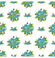 seamless color flowers wallpaper vector image vector image