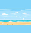 seamless landscape with sea shore vector image vector image