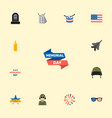 set of history icons flat style symbols with army vector image
