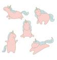 set of unicorn set of unicorn vector image vector image