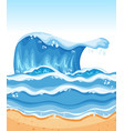 summer beach wave background vector image