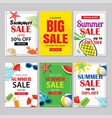 summer sale emails and banners mobile templates vector image vector image