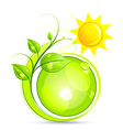 sun and plant vector image vector image