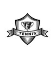 tennis badge logo designs inspiration isolated on vector image vector image